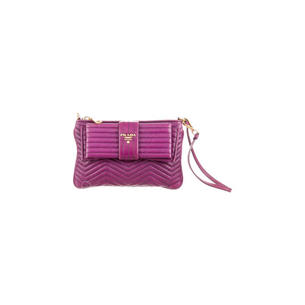 Women Prada CHEVRON BOW WRISTLET Purple Outlet Online