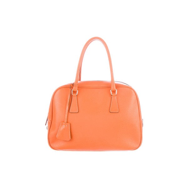 Women Prada CINGHIALE SPORT BAULETTO BAG Orange Outlet Online