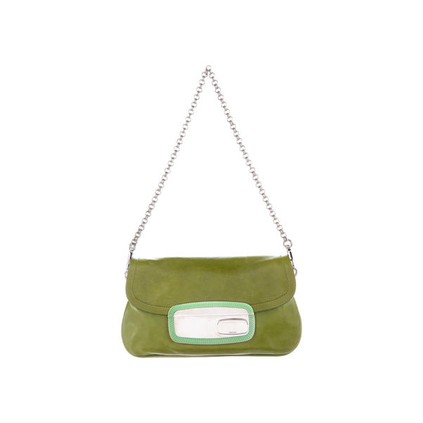 Women Prada CALFSKIN SHOULDER BAG Green Outlet Online